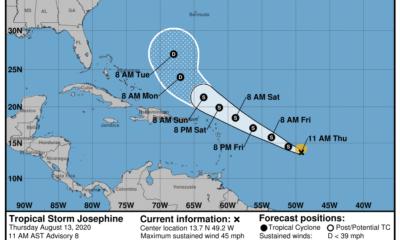Josephine se convierte en tormenta tropical, pero no ofrece peligro ni Cuba ni a Florida