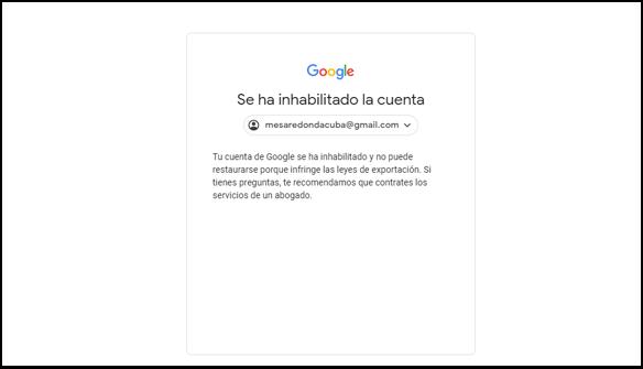 Google suspende la cuenta de Youtube de Granma y Mesa Redonda