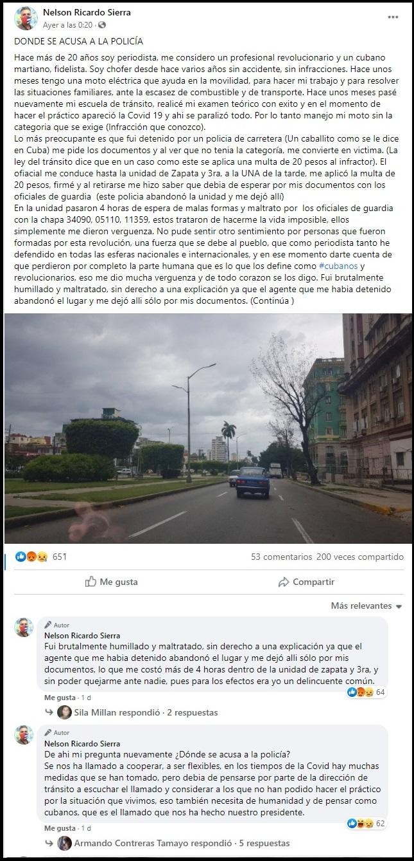 """Reportero oficialista denuncia maltrato de las autoridades: """"¿Dónde se acusa a la policía?"""""""