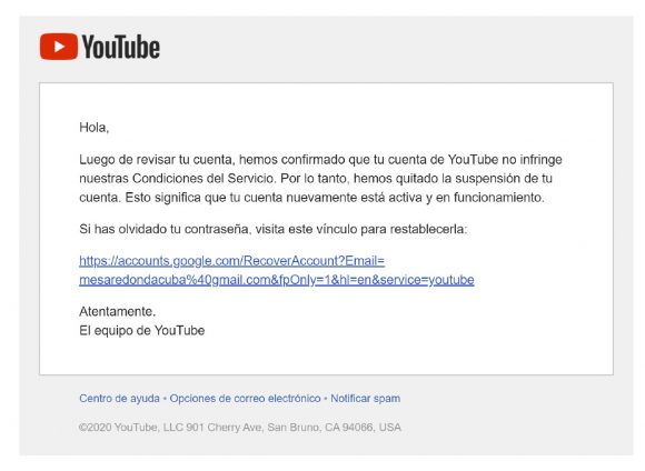 La Mesa Redonda, Granma y Cubavisión Internacional vuelven a Youtube