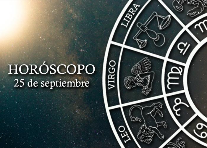 Horóscopo del 25 de septiembre