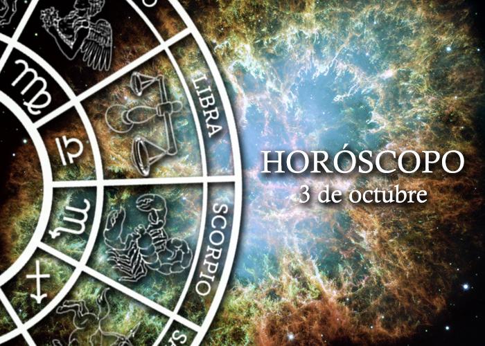 Horóscopo del 3 de ocubre