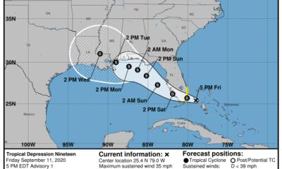 Aviso especial Depresión Tropical No.19 afecta al sur de la Florida