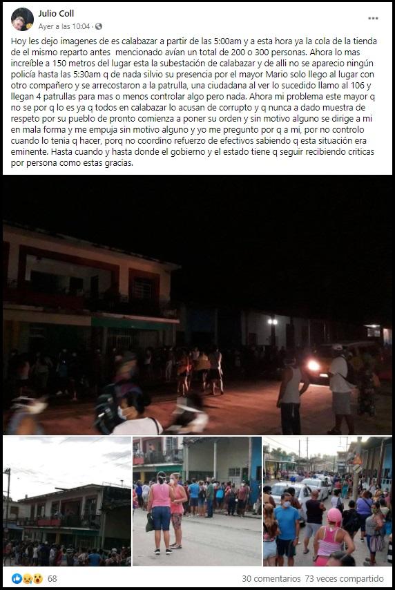Cubanos hacen cola desde la madrugada en Calabazar