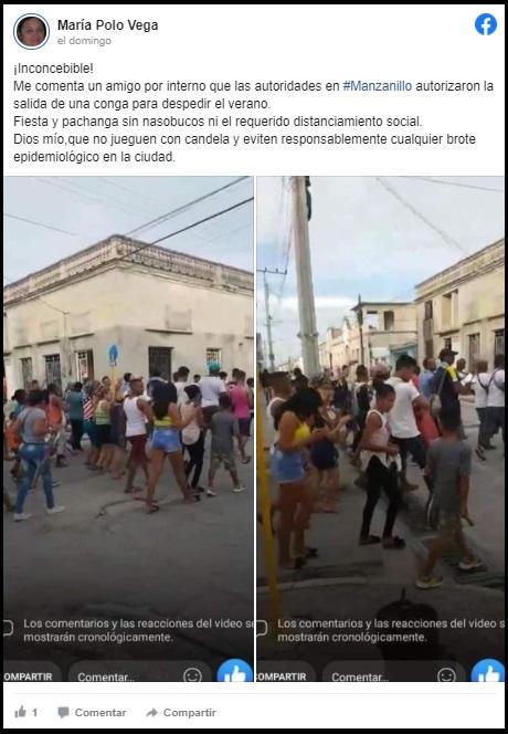 "Manzanillo realiza conga para ""despedir el fin del verano"" pese al COVID-19"