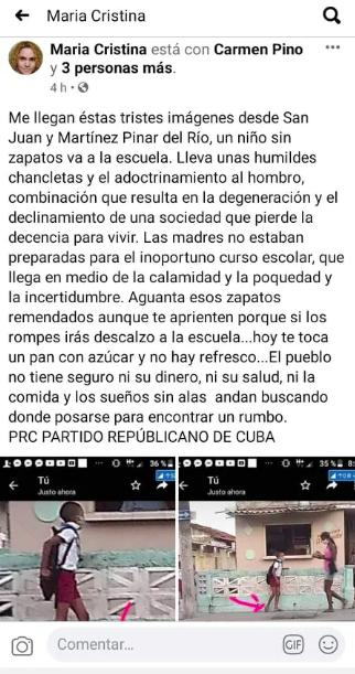 La Diosa pide ayuda para encontrar a niño cubano que va a la escuela en chancletas