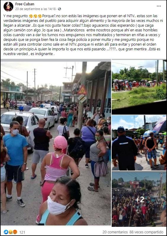 Cubanos cuestionan en redes por qué las colas no reciben cobertura en los noticieros