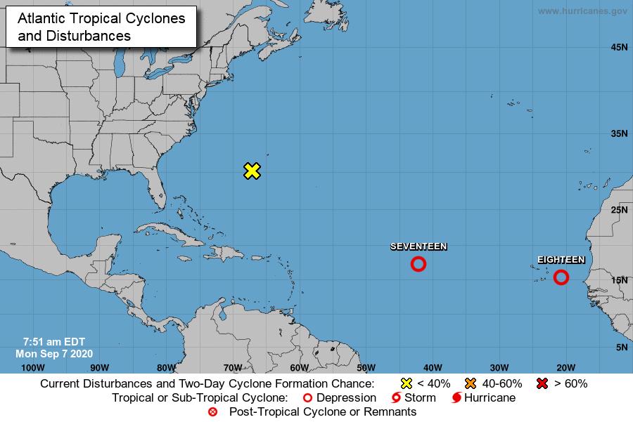 Comienza vigilancia de dos nuevos ciclones tropicales en el Atlántico