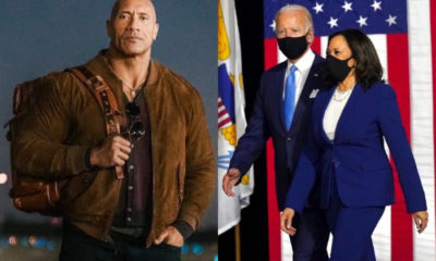 "Dwayne ""The Rock"" Johnson hace público su apoyo al binomio Biden-Harris"