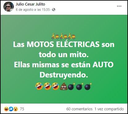 Motos eléctricas son un constante riesgo de incendio para los cubanos