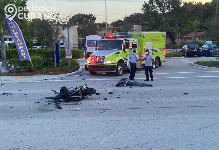 Muere un motociclista en Doral tras aparatoso accidente de tránsito