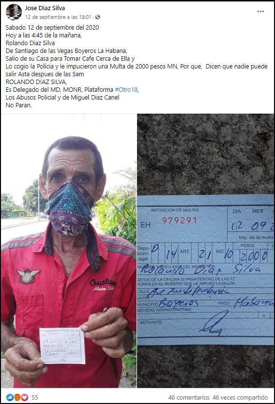 """Multan a cubano con 2.000 pesos por salir """"demasiado temprano"""" en La Habana"""