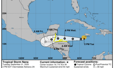 Tormenta Tropical Nana en el Caribe no ofrece peligro para Cuba