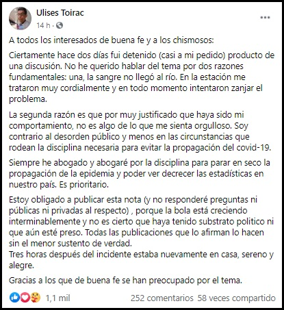 El humorista cubano Ulises Toirac confirma que fue arrestado