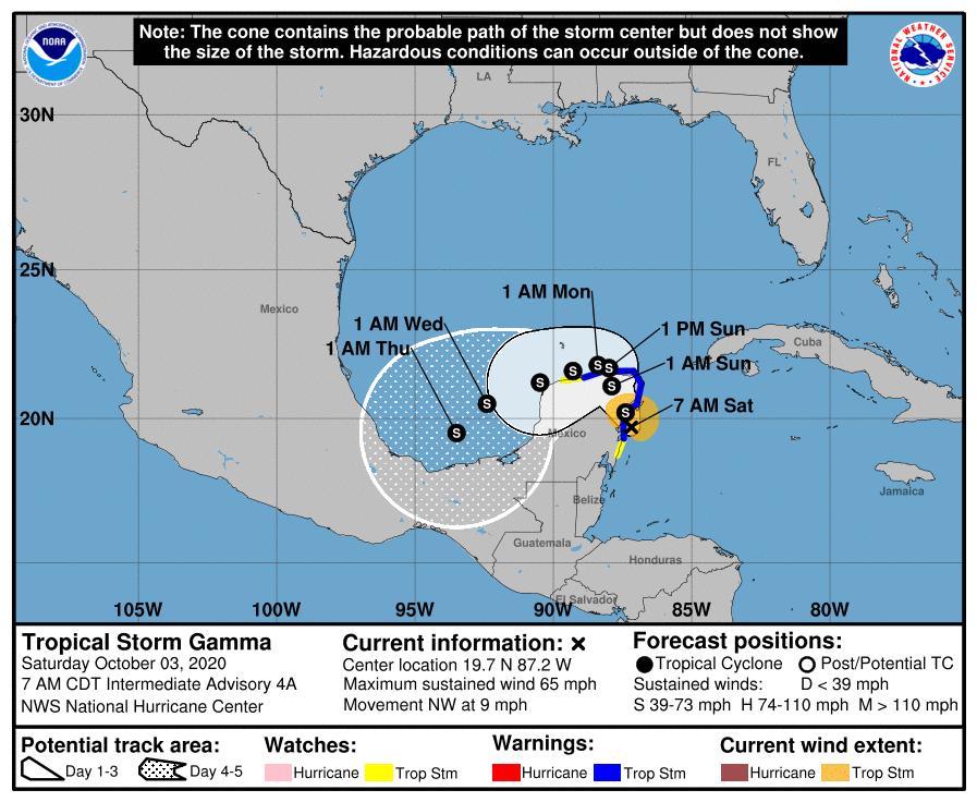 Aviso de tormenta tropical: Gramma dejará fuertes lluvias en el occidente de Cuba