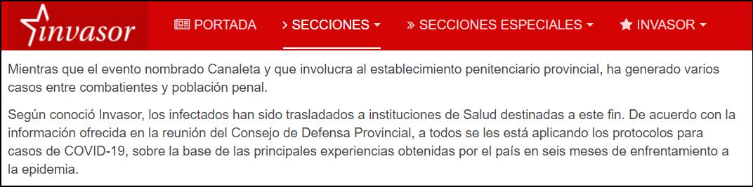 Prensa oficialista reconoce brote de COVID-19 en prisión de Ciego de Ávila