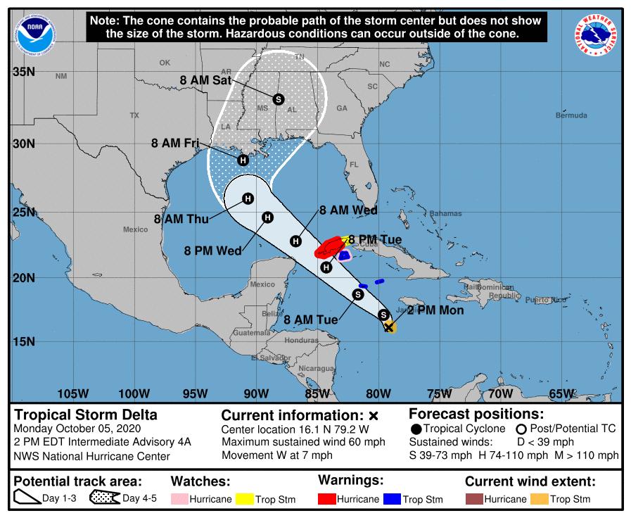 Defensa Civil decreta fase informativa ante la cercanía de tormenta tropical Delta