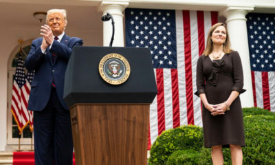 Donald Trump y Amy Coney Barrett