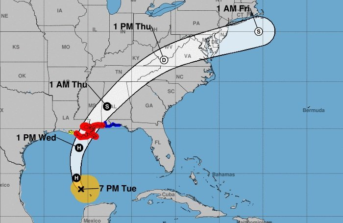 Lanzan advertencia ante la posible llegada del ciclón Zeta en la Costa del Golfo de EEUU