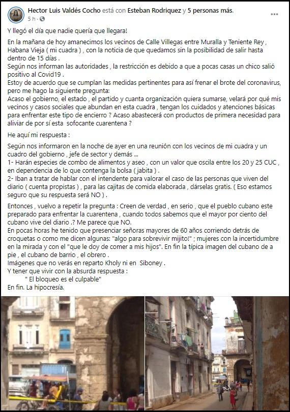 Entran en cuarentena dos calles en La Habana Vieja tras detectar brote de COVID-19