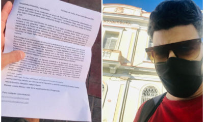 Dariem Columbié entrega carta a líderes religiosos cubanos en busca de apoyo para el MSI