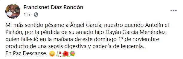"""Fallece el hijo de """"Antolín El Pichón"""""""