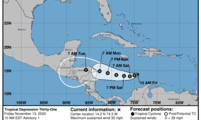 La depresión tropical No.31 se forma en el mar Caribe