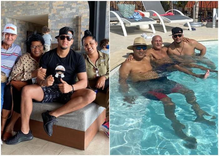 La familia de Yuli Gurriel disfruta de vacaciones en Cancún (+FOTOS)