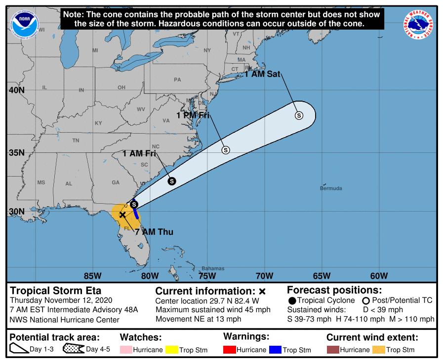 La mayoría de la Florida continúa en estado de emergencia por Eta