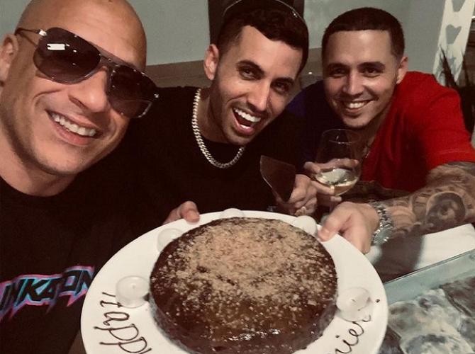 Lenier Mesa recibe felicitación de cumpleaños de Vin Diesel