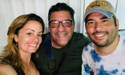 Luis Silva y su esposa visitan el restaurante de Otto Ortiz en La Habana