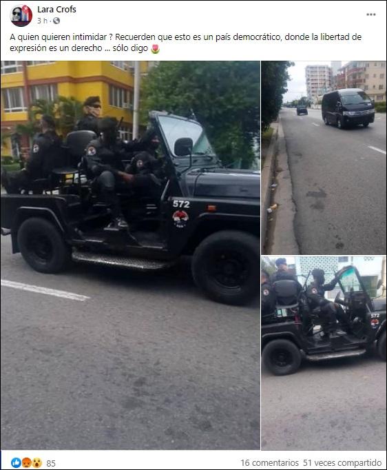 Denuncian la presencia de tropas paramilitares en las calles de Cuba