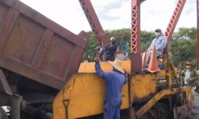 Inician los trabajos de reparación del puente de Jatibonico