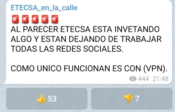 Reportan que ETECSA está bloqueando redes sociales en Cuba
