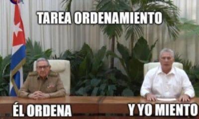 Memes a Raúl Castro, Díaz-Canel y la unificación monetaria