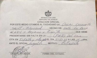 """Policía cubana cita a activista del Movimiento San Isidro para una """"entrevista"""""""