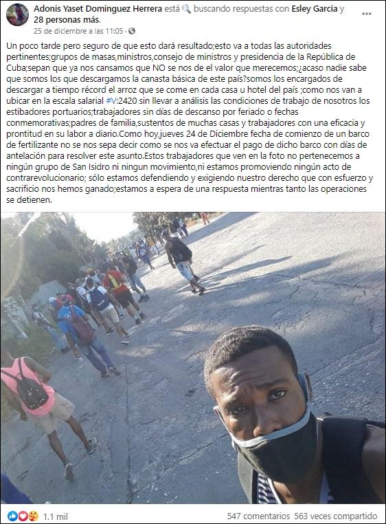 Estibadores del Puerto de La Habana protestan por un salario digno