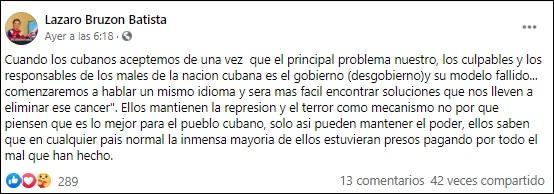 El ajedrecista cubano Lázaro Bruzón arremete contra el Gobierno y su fallido sistema