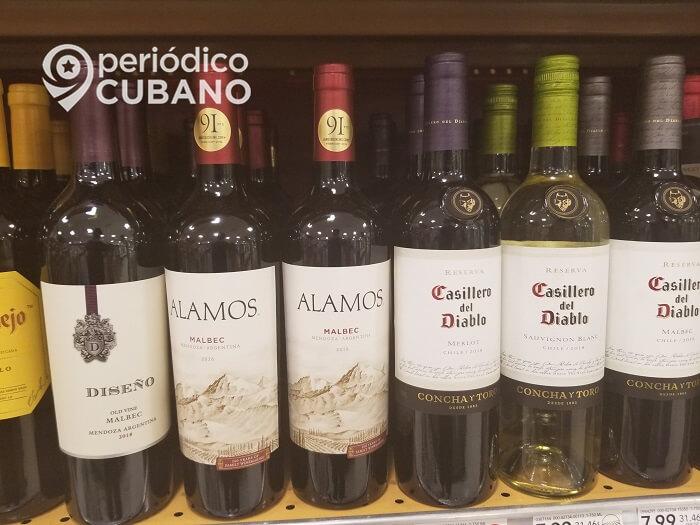 Ordenamiento monetario eleva el precio de las botellas de vino en Cuba