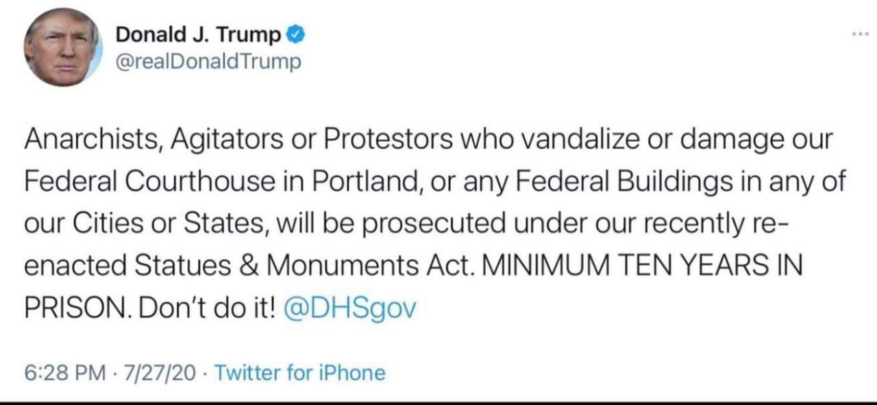 Trump rechaza la violencia de los manifestantes que irrumpieron en el Capitolio