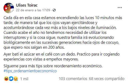 """Ulises Toirac ofrece """"tips"""" para enfrentar el ordenamiento"""