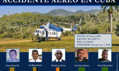 accidente helicóptero