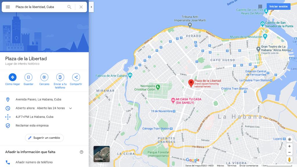 Desde hoy representará una nueva época en la historia de Cuba (Foto: Captura de pantalla Google Maps)