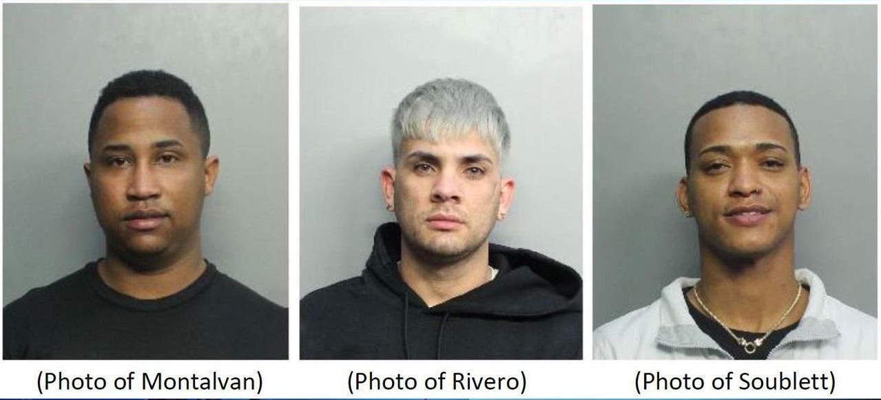 Arrestan a tres hombres de Miami-Dade involucrados en varios robos de tiendas de lujo