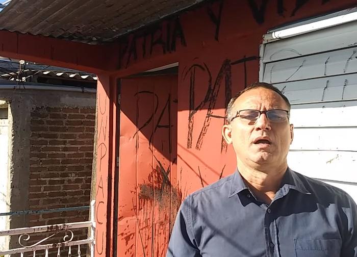 Arrojan excremento contra la sede principal de la Unpacu en Santiago de Cuba