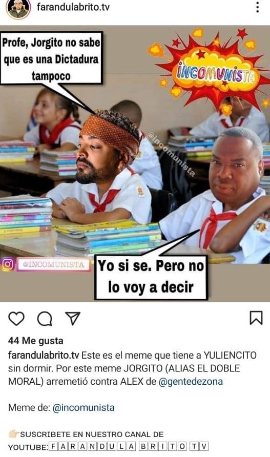 Jorge Junior explota contra Gente de Zona por este meme