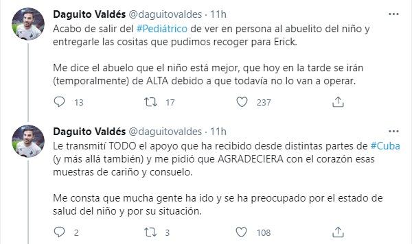 Tuit Daguito Valdés