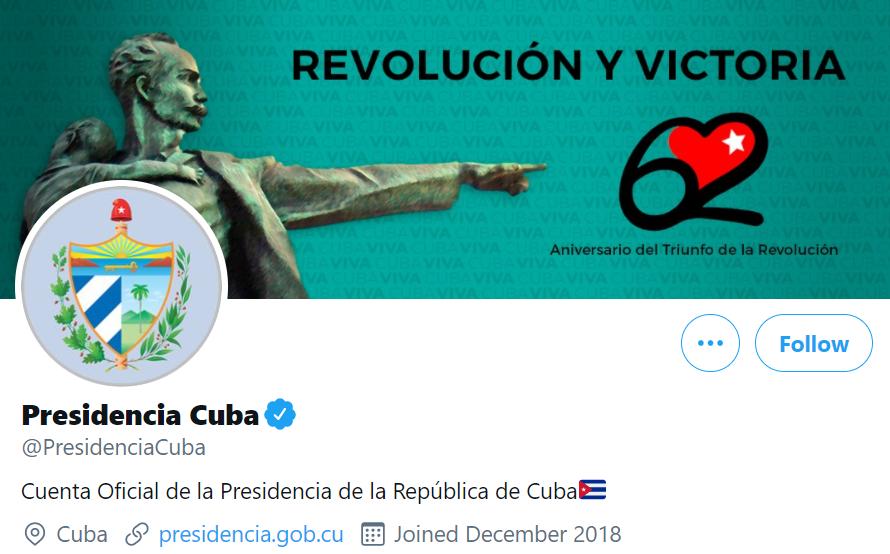 Twitter identificará las cuentas administradas por gobernantes e instituciones cubanass