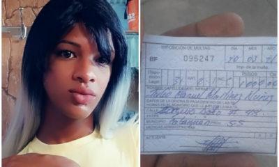 Multan a cubana trans y la amenazan con desacato por vestirse como mujer
