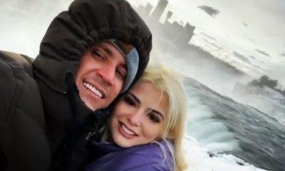 Osmani García y su novia visitan las Cataratas del Niágara